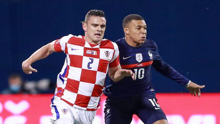 Berikut hasil pertandingan Kroasia vs Prancis dalam lanjutan UEFA Nations League di Stadion Maksimir, Kamis (15/10/20) WIB. Copyright: © Sanjin Strukic/Pixsell/MB Media/Getty Images