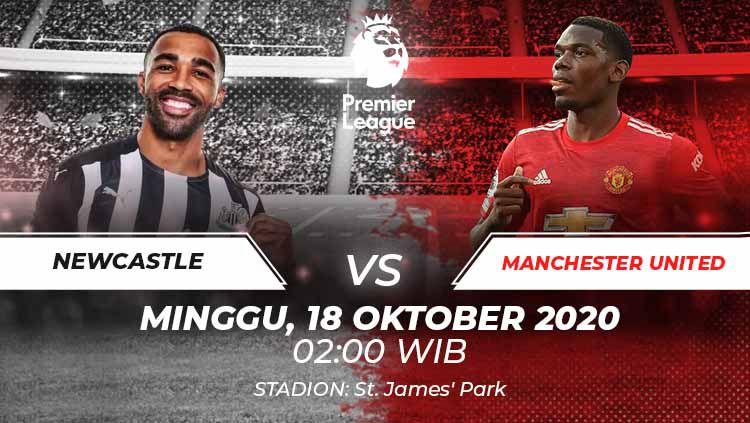 Berikut link live streaming pertandingan Liga Inggris pekan ke-5 yang akan mempertemukan Newcastle United vs Manchester United. Copyright: © Grafis:Frmn/Indosport.com