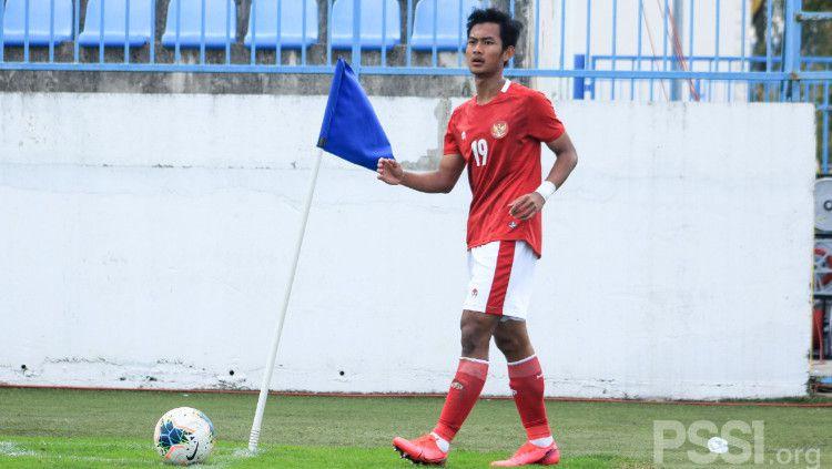 Pemain Timnas Indonesia U-19, Mohammad Kanu. Copyright: © PSSI