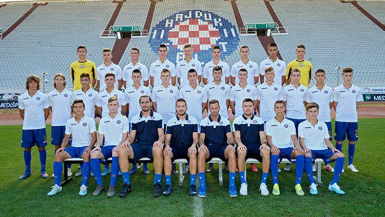 Hajduk Split U-19 yang akan melawan Timnas Indonesia U-19. Copyright: © https://hajduk.hr/