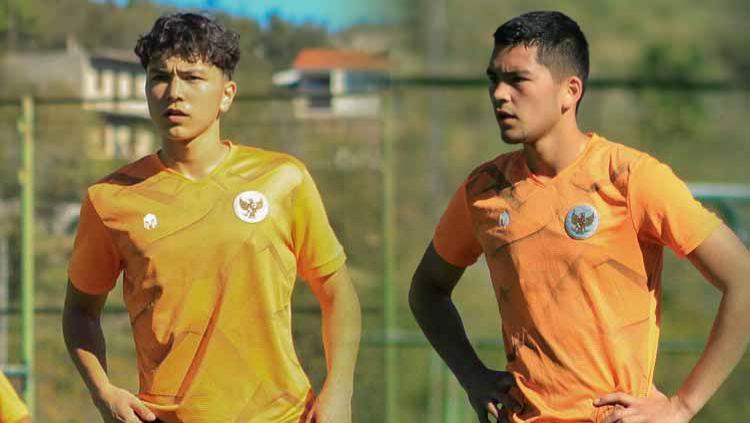 Kelana Noah Mahesa dan Luah Fynn Jeremy, dua pemain keturunan Indonesia-Jerman yang dipanggil Shin Tae-yong ke TC Timnas U-19. Copyright: © PSSI