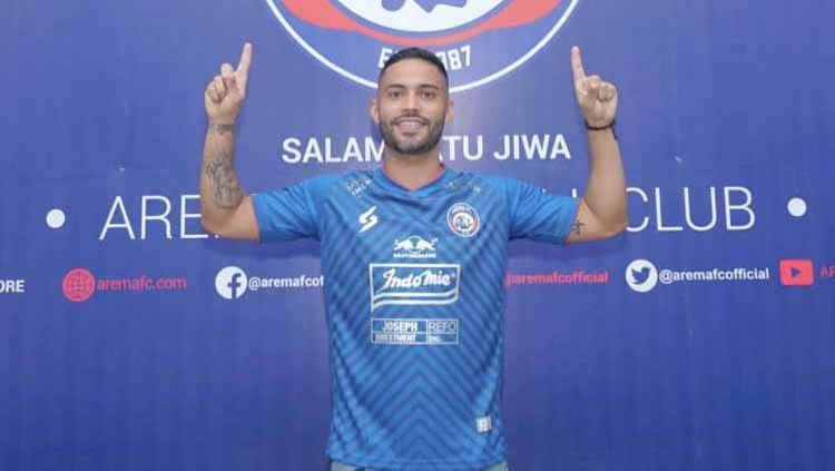 Arema FC memperkenalkan Bruno Smith sebagai penggawa asing baru jelang lanjutan Liga 1. Copyright: © MO Arema FC