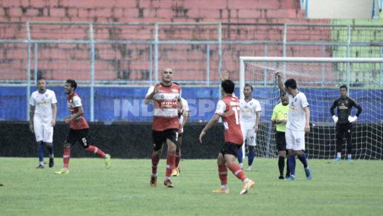 Madura United mengusulkan kepada PSSI maupun PT Liga Indonesia Baru agar Liga 1 bisa mengikuti kalender kompetisi Eropa. Copyright: © Ian Setiawan/INDOSPORT