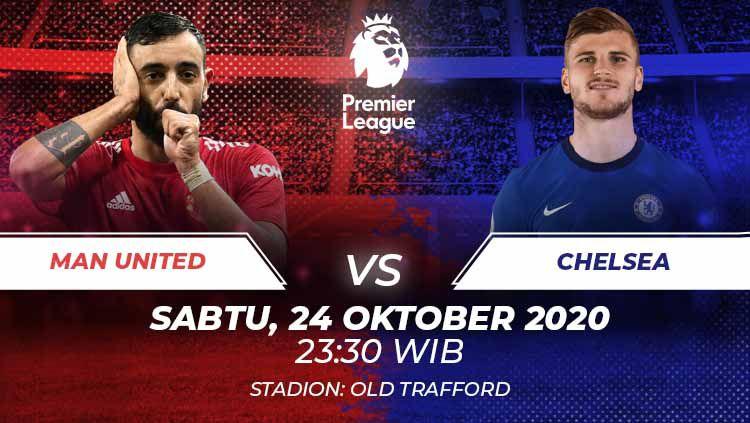 Manchester United vs Chelsea di pekan lanjutan Liga Inggris, berikut prediksi lengkapnya. Copyright: © Grafis:Frmn/Indosport.com