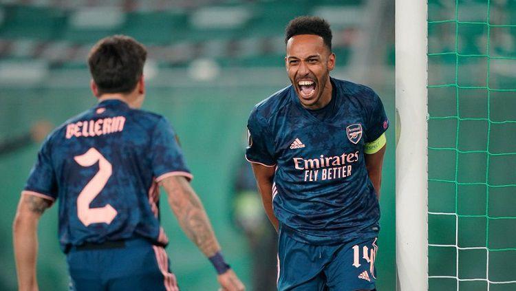Berikut hasil pertandingan antara Rapid Wien vs Arsenal dalam matchday pertama Grup B Liga Europa 2020/21, Kamis (22/10/20) malam WIB. Copyright: © Twitter @EuropaLeague