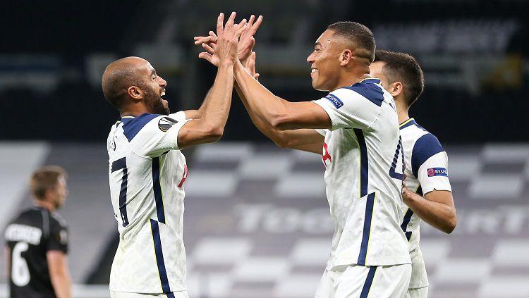 Berikut hasil pertandingan Liga Europa antara Tottenham Hotspur vs LASK, Jumat (23/10/20) dini hari WIB, di mana tuan rumah meraih kemenangan telak 3-0. Copyright: © Twitter @EuropaLeague
