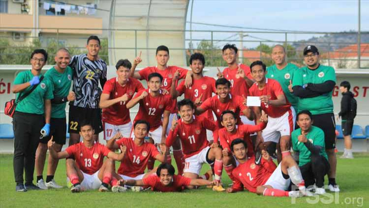 Laga internal game Timnas Indonesia U-19, Jumat (23/10/20). Copyright: © PSSI