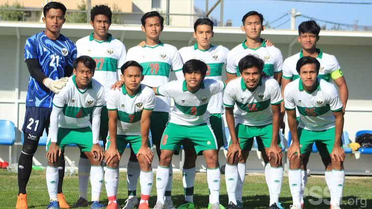 Laga internal game Timnas Indonesia U-19, Jumat (23/10/20). Copyright: © PSSI