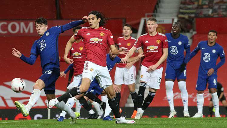 Berikut hasil pertandingan pekan keenam Liga Inggris antara Manchester United vs Chelsea, di mana kedua tim bermain imbang 0-0 sehingga MU masih tertahan di peringkat 15. Copyright: © Matthew Peters/Manchester United via Getty Images