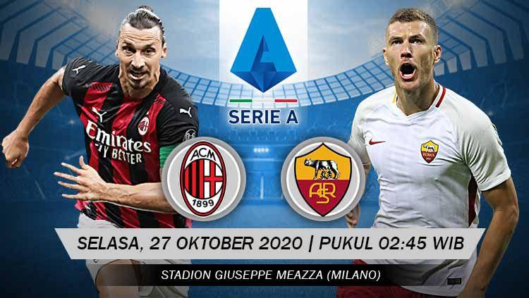 Pertandingan AC Milan vs AS Roma (Serie A). Copyright: © Grafis: Yanto/Indosport.com