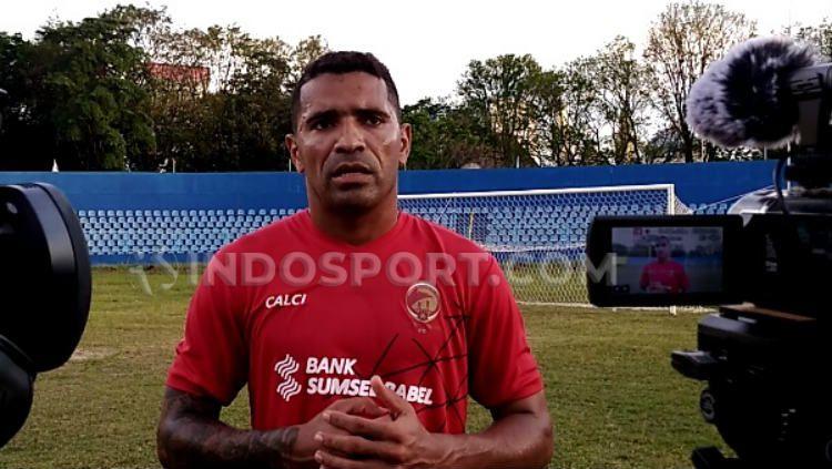 Striker andalan Sriwijaya FC Alberto Goncalves. Copyright: © Muhammad Effendi/INDOSPORT