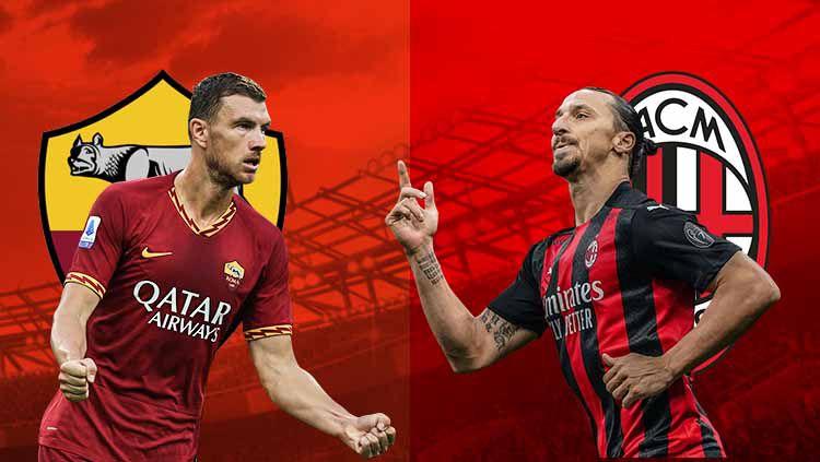As Roma dan Ac Milan. Copyright: © Grafis:Frmn/Indosport.com