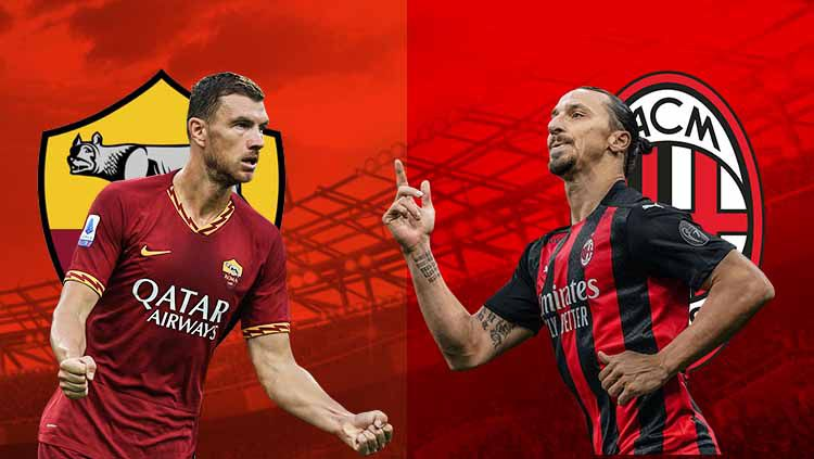 Torehan belum pernah terkalahkan AC Milan diancam oleh AS Roma yang jadi lawan mereka di pekan kelima Serie A Liga Italia 2020/21. Copyright: © Grafis:Frmn/Indosport.com