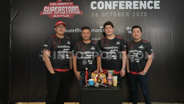 Konferensi pers Celebrity Superstars Battle. Copyright: © Zainal Hasan/INDOSPORT