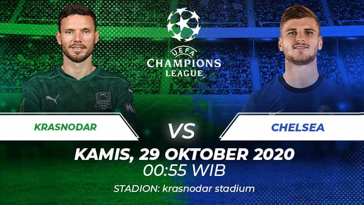 Link Live Streaming Pertandingan Liga Champions Krasnodar Vs Chelsea Indosport