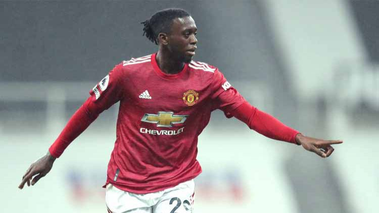 Aaron Wan-Bissaka, pemain sepakbola Manchester United. Copyright: © Alex Pantling/Getty Images