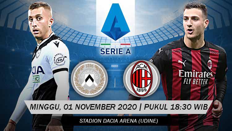 Berikut prediksi pertandingan Serie A Liga Italia antara Udinese vs AC Milan. Copyright: © Grafis: Yanto/Indosport.com