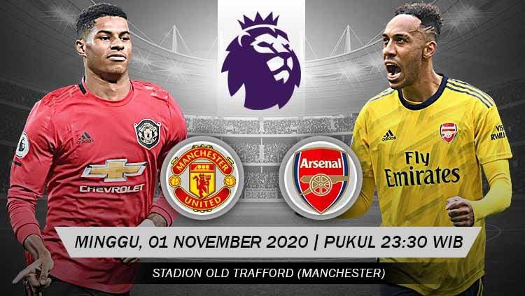 Link Live Streaming Pertandingan Manchester United Vs Arsenal Indosport