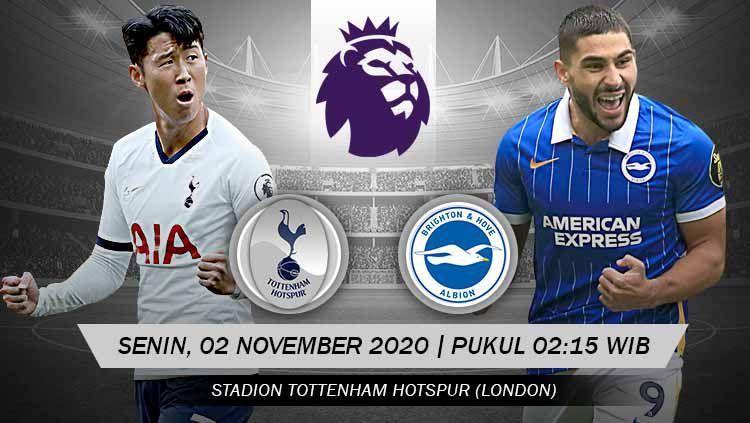 Indosport - Pertandingan Tottenham Hotspur vs Brighton & Hove Albion (Liga Primer).