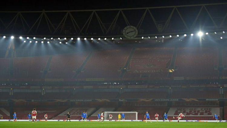 Arsenal vs Molde di Emirates Stadium Copyright: © twitter.com/Arsenal