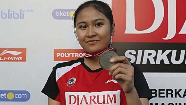 Pebulutangkis masa depan Indonesia, Sang Ayu Putu Kharisma blak-blakan soal sifat Liliyana Natsir pada saat menjadi pelatih. Copyright: © pbdjarum.org