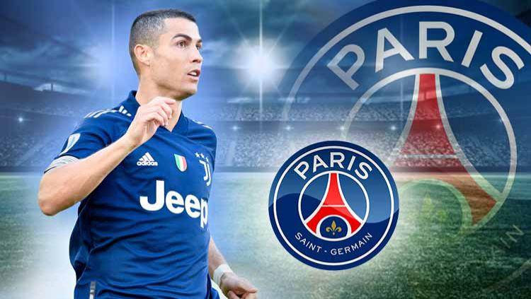 Cristiano Ronaldo bakal gabung klub Ligue 1 Prancis, PSG, gara-gara Neymar. Copyright: © Grafis: Yanto/Indosport.com