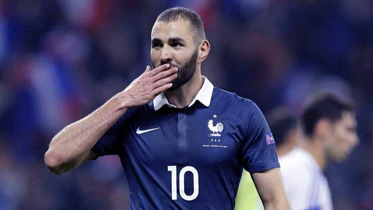 Karim Benzema, pemain Timnas Prancis. Copyright: © VALERY HACHE/AFP via Getty Images
