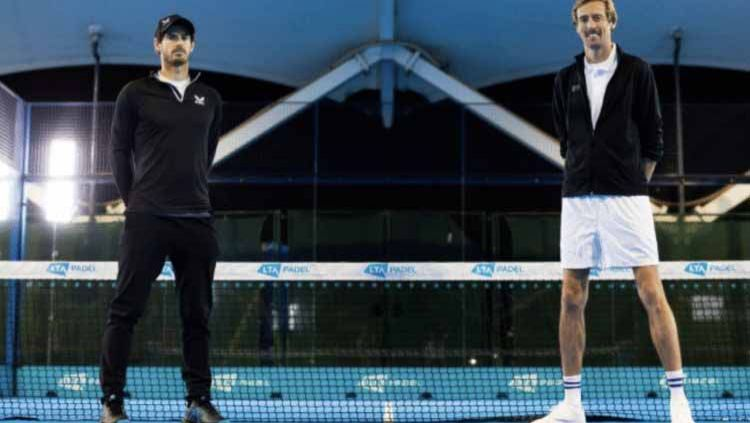 Andy Murray dan Peter Crouch. Copyright: © tennis365