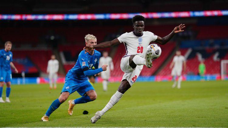 Berikut hasil pertandingan terakhir di fase Grup 2 UEFA Nations League musim 2020-2021 antara tuan rumah timnas Inggris vs Islandia, Kamis (19/11/2020) dini hari WIB. Copyright: © Twitter @England