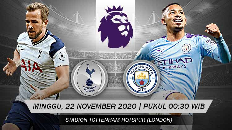 Berikut link live streaming pertandingan Liga Inggris pekan ke-9 yang akan mempertemukan Tottenham Hotspur vs Manchester City. Copyright: © Grafis: Yanto/Indosport.com