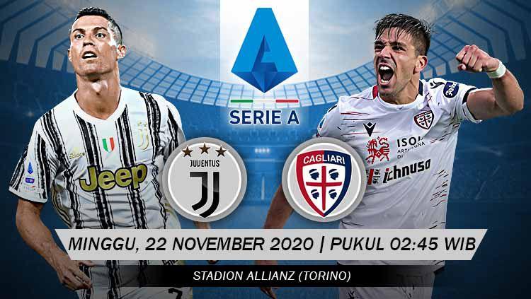 Link Live Streaming Pertandingan Juventus vs Cagliari (Serie A). Copyright: © Grafis: Yanto/Indosport.com