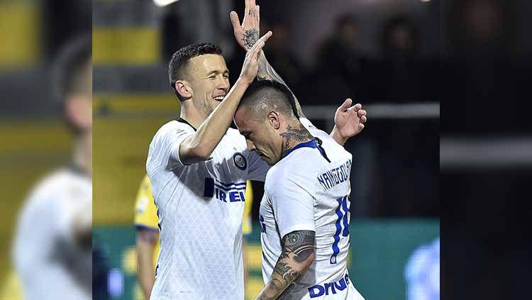 Kembali ke skuat utama Inter Milan setelah dipinjamkan musim lalu, Ivan Perisic dan Radja Nainggolan punya nasib yang berbeda. Seperti apa? Copyright: © Giuseppe Maffia/NurPhoto via Getty Images