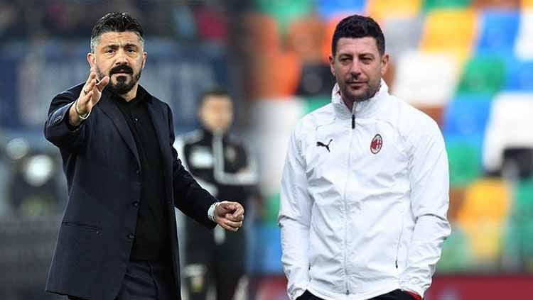 Laga Napoli vs AC Milan, Senin (23/11/20) akan jadi momen dua eks Rossoneri, Gennaro Gattuso dan Daniele Bonera, bereuni sebagai pelatih kubu yang berbeda. Copyright: © Getty Images