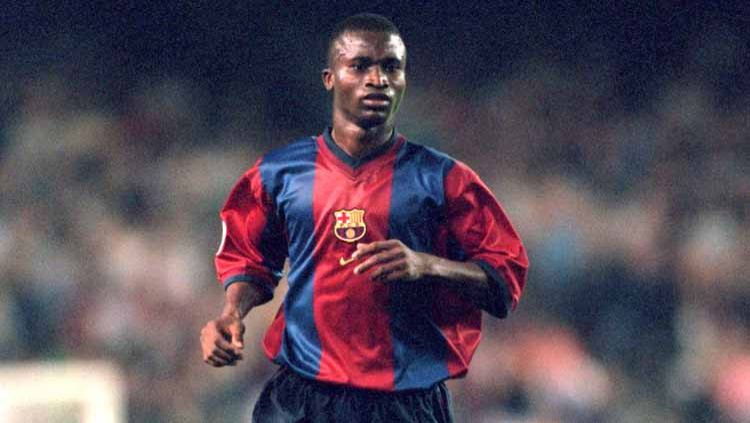 Samuel Gbenga Okunowo saat masih berseragam Barcelona. Copyright: © Michael Steele/EMPICS via Getty Images