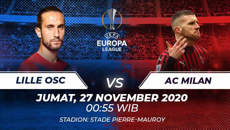 Lille OFC vs Ac Milan di match keempat grup H liga Europa 2020/21 Copyright: © Grafis:Frmn/Indosport.com