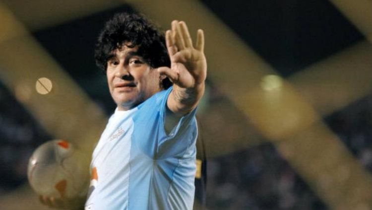 Legenda Argentina, Diego Maradona. Copyright: © ORLANDO SIERRA/AFP/Getty Images