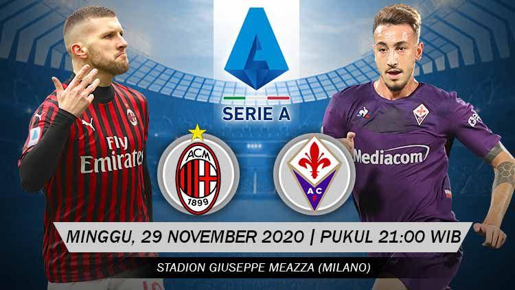 Link Live Streaming Pertandingan AC Milan vs Fiorentina (Serie A). Copyright: © Grafis: Yanto/Indosport.com