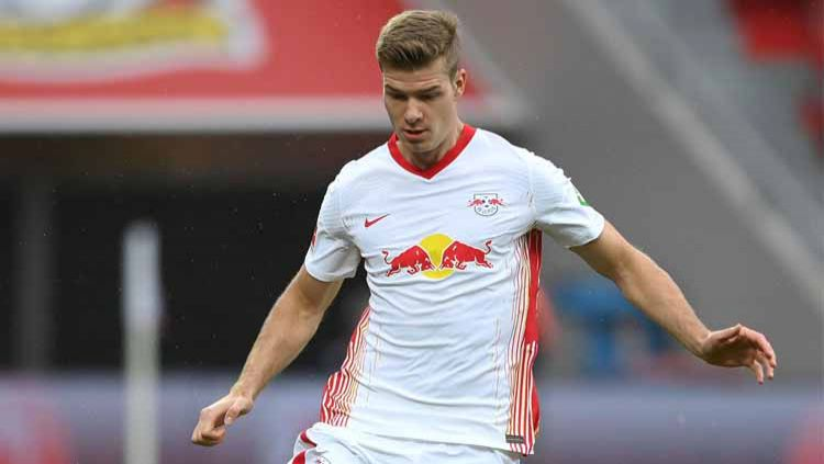 Alexander Sorloth, pemain RB Leipzig kebanggaan Norwegia. Copyright: © Matthias Hangst/Getty Images