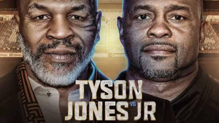 Mike Tyson vs Roy Jones Jr. Copyright: © Twitter@MikeTysonvJones