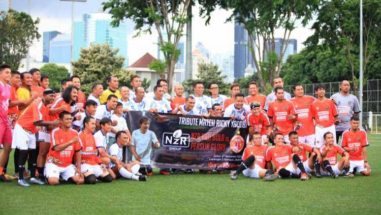 Laga tribute Almarhum Ricky Yacobi antara Persija Glory vs NZR Red Bold Legend di Jakarta. Copyright: © Dok. NZR