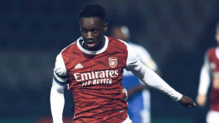 Folarin Balogun mencetak gol pertamanya untuk Arsenal saat mengalahkan Molde di Liga Europa. Murid Pierre-Emerick Aubameyang ini bisa jadi senjata masa depan. Copyright: © Twitter@fbalogun67
