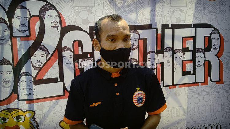 Riko Simanjuntak saat ditemu diacara HUT Persija ke-92. Copyright: © Zainal Hasan/INDOSPORT