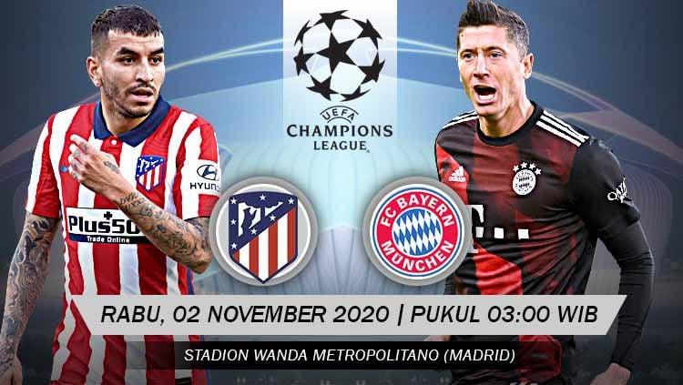 Duel seru bakal tersaji di matchday kelima Grup A Liga Champions Eropa 2020-2021 antara Atletico Madrid menjamu Bayern Munchen, berikut prediksinya. Copyright: © Grafis: Yanto/Indosport.com