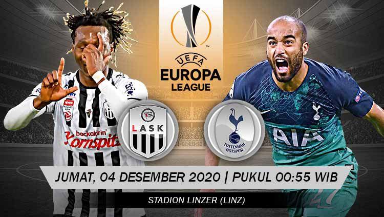 Link Live Streaming Pertandingan LASK Linz vs Tottenham Hotspur (Liga Europa). Copyright: © Grafis: Yanto/Indosport.com