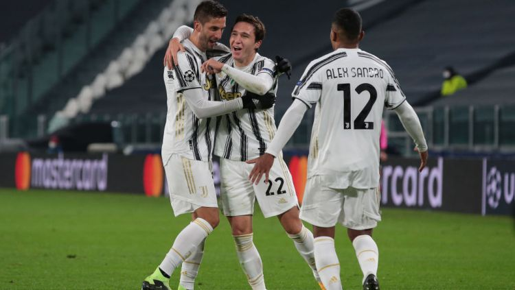 Federico Chiesa merayakan golnya dalam laga Juventus vs Dynamo Kiev Copyright: © Jonathan Moscrop/Getty Images