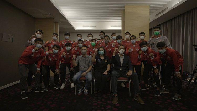 Tepat hari ini, Kamis (3/12/20) malam WIB, sebanyak 21 pemain Garuda Select 3 akan berangkat ke Inggris. Copyright: © PSSI