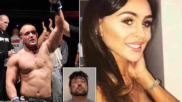 Eks petarung MMA asal Inggris, Andrew Wadsworth menikam mantan kekasihnya hingga tewas. Copyright: © www.dailymail.co.uk