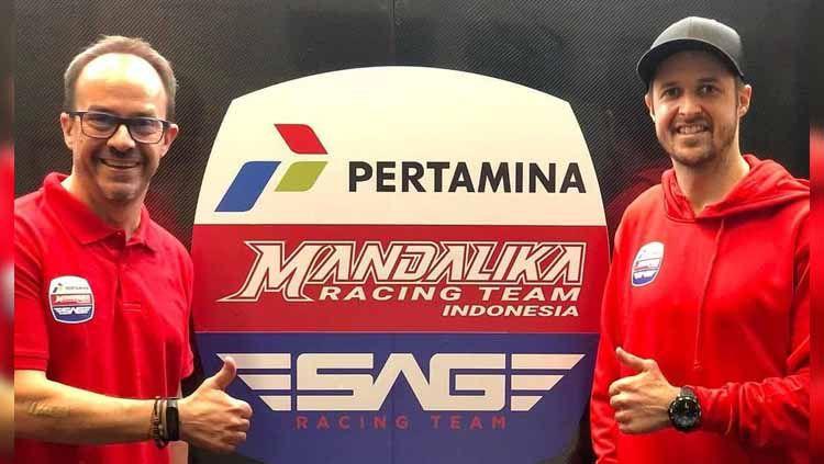 Mandalika Racing Team Indonesia (MRTI) dan SAG Racing Team resmi jalin kerja sama untuk turun di Moto2 Copyright: © Instagram/@mandalikaracingteam