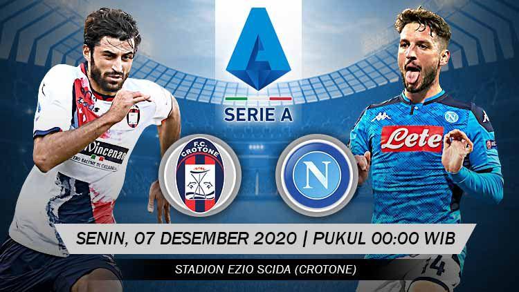 Prediksi Pertandingan Crotone vs Napoli (Serie A). Copyright: © Grafis: Yanto/Indosport.com
