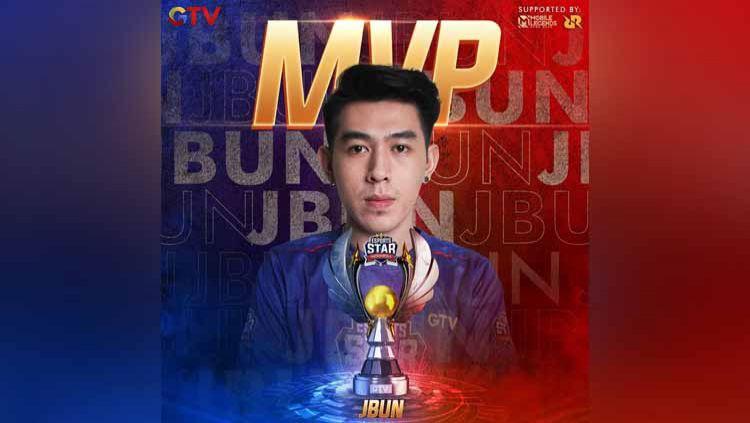 Gelaran Esports Star Indonesia (ESI) sudah tuntas pada Sabtu (05/12/20) malam. Jodie Bun alias JBun keluar sebagai Most Valuable Player atau MVP Copyright: © Instagram@esportsstarindonesia